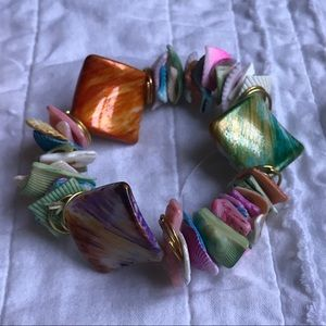 Colorful Shell Braclet